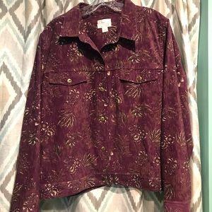 Christopher Banks Woman Jacket Purple Button Down